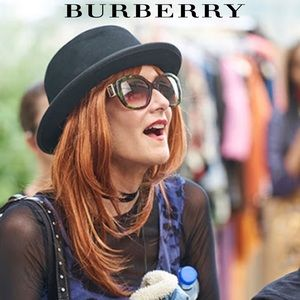 Burberry Buckle Detail Oversize Square Sunglasses